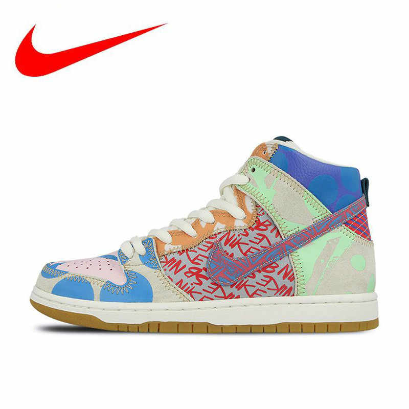 new products fcf41 2d9cf Original Nike New Arrival Official SB What The Dunk High Anti-Slippery  Mens Skateboarding Shoes