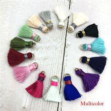 цена на Bohoever 10pcs/lot 2CM Tassel silk tassel earrings accessories tassel for Hand made jewelry jewelry findings jewelry materials