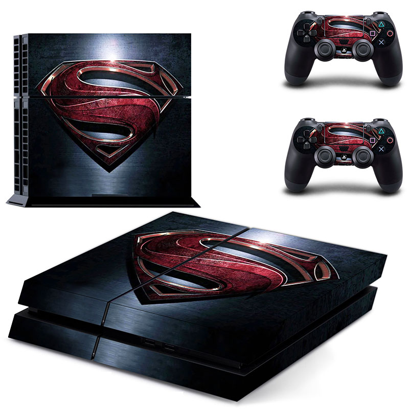 Superman Logo PS4 Skin Sticker set For Playstation PS 4 PS4 Console+ 2 Controllers skin