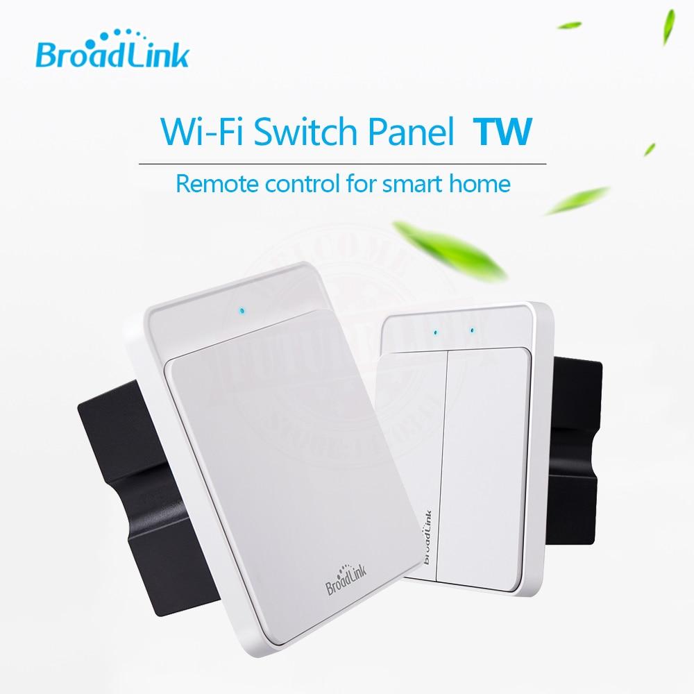 imágenes para Broadlink tw 1 pandillas y 2 bandas wifi de casa inteligente de control remoto inalámbrico de pared interruptor de la luz a través de ios android,