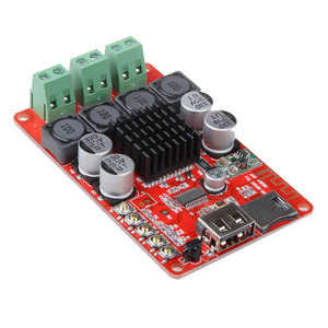 Image 5 - TPA3116 Bluetooth Receiver 50W*2 Digital Audio Amplifier Board TF card U disk player FM Radio With Remote contro I 2 001