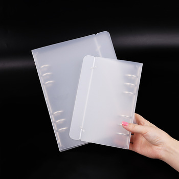 A5/A6 Translucent Loose Leaf Binder 6 Holes Notepad Cover Notebook Planner Office Supplies Filing Product 1