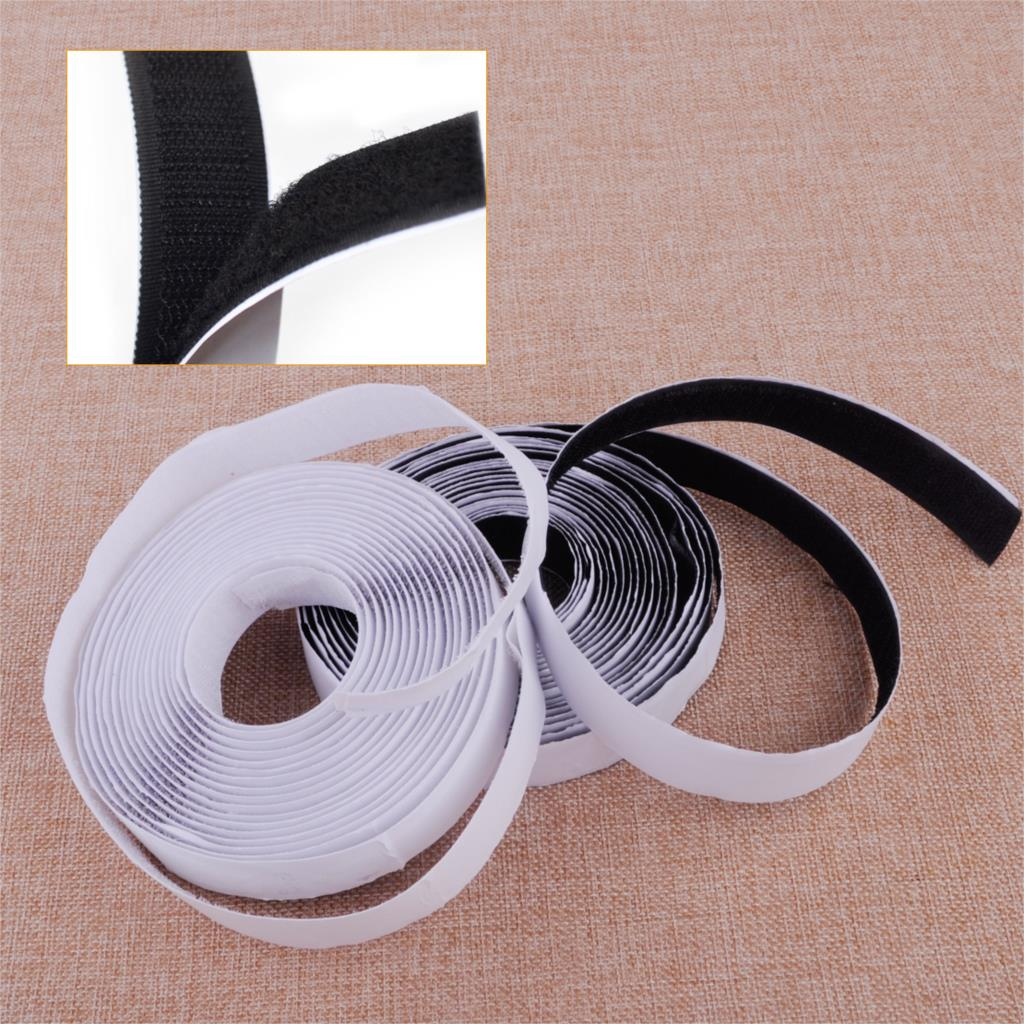 CITALL 5M Back to Back Strong Sticky Self Adhesive Tape and 20mm Nylon Short Hook Loop Fastener Magic Tape
