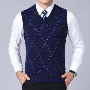 Image 3 - Pull de marque pour hommes, gilet en tricot, coupe cintrée, Style coréen, à la mode, automne 2020 pour hommes, nouvelle collection décontracté