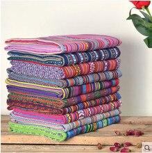 Cortina étnica de algodão para telas, faça você mesmo, tecidos de linho para patchwork, toalhas de mesa, sofás, costura, artesanato, materiais, bolsa de tecido