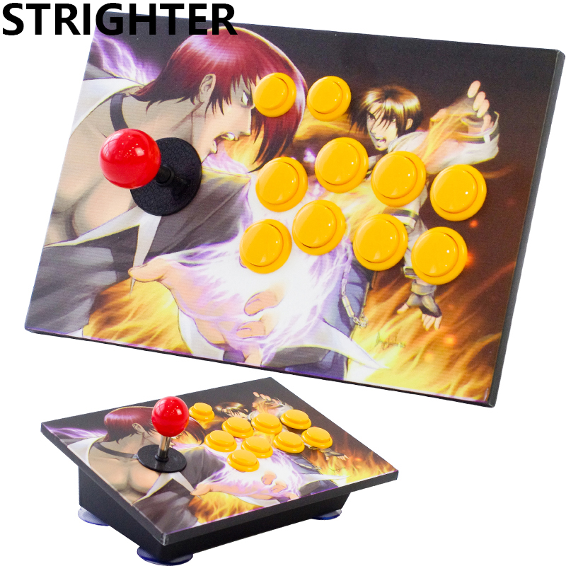 arcade joystick pc controller computer game joystick 10 bottons usb connector 2018 new King of fighters Joystick Consoles 2015 new hot high quality acrylic pc usb arcade joystick gamepad game controller joypad plug and play handle free shipping