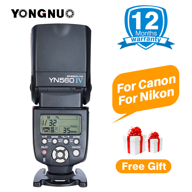 Yongnuo YN 560 IV YN560IV YN-560IV Wireless Master Slave Flash Speedlite for Canon 650D Nikon D7100 D5300 Sony Pentax Olympus spash sl 685c gn60 wireless master slave flash light ttl speedlite for nikon lcd screen cameras flash adjustable fill light