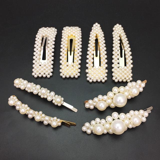 MANILAI имитация заколки для волос с жемчугом для женщин ручной работы из бисера шпильки Свадебные украшения для волос женские подарки свадебные аксессуары для волос