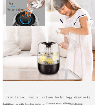 Yadu humidifier home mute bedroom pregnant woman baby large capacity air conditioning humidifier air small on the water 1
