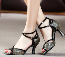 New Women Snakeskin Ballroom Latin Dance Shoes Wholesale Salsa Dance Shoes ALL SIZE