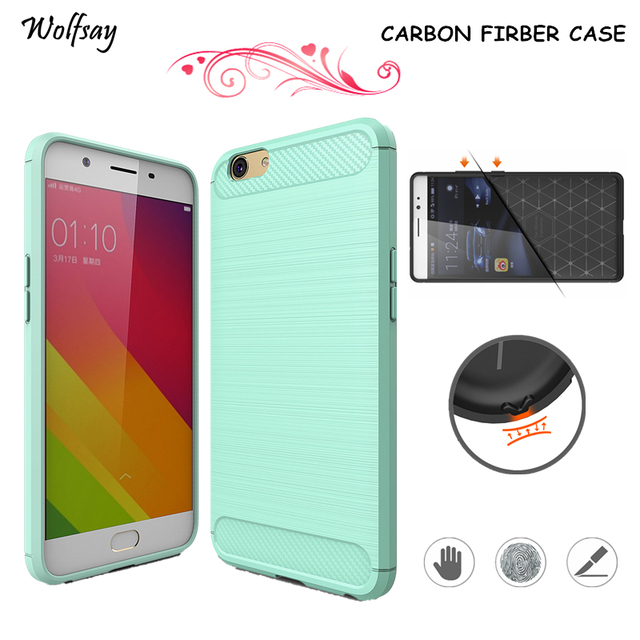 promo code 9e3bc 0a419 US $2.51 41% OFF|Wolfsay Phone Cover Oppo A57 Case Carbon Fiber Rubber  Silicon Phone Case For Oppo A57 Cover Luxury Funda For Oppo A39 Case 5.2