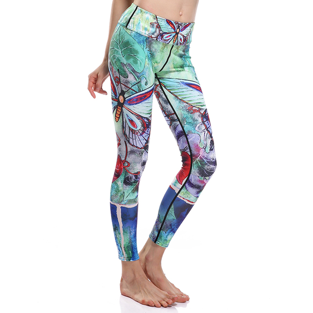 3D print Butterfly bird flowe winter warm Harajuku adventure time workout push up spandex plus size fitness leggings women pants