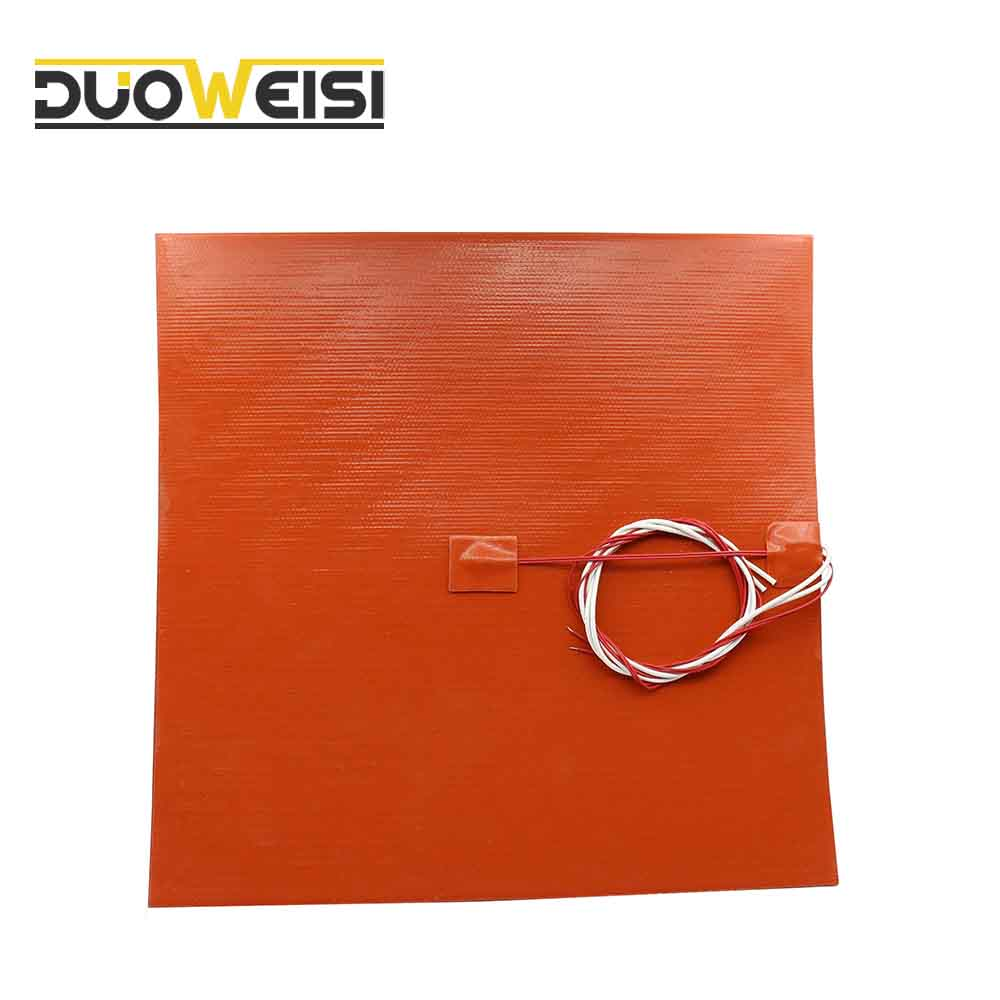 DuoWeiSi 3D piezas de la impresora 300x300mm cama de calor/24/110/120/220/240 V 200/350/500/600/750 W de silicona calentador de Pad calentador de calefacción cama Mat