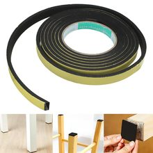 3 Meter Black Single Sided Adhesive EVA Foam Tape Window Door Sealing Sponge Tape Draught Excluder Rubber Weather Sticky Strip(China)