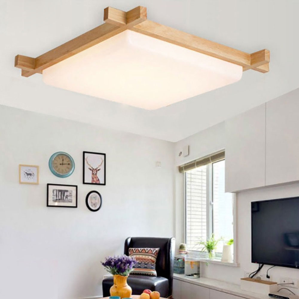 Wooden Study Room: NEW Creative High Quality Wood Led Ceiling Lamps For