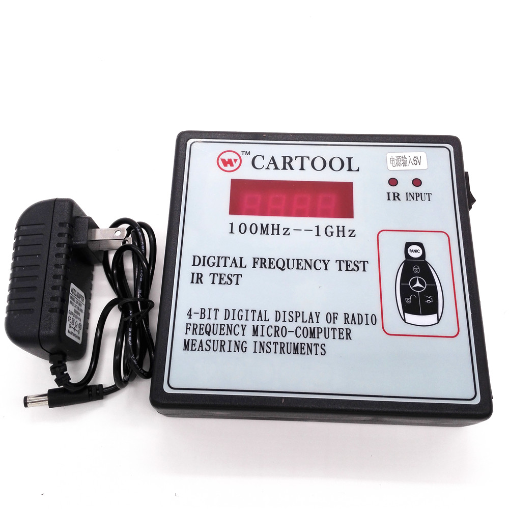 4ビットのデジタル表示のラジオ周波数irテストマイクロ コンピュータ計測器、リモート制御デジタル周波数テスター  グループ上の 自動車 &バイク からの 自動キープログラマ の中 1