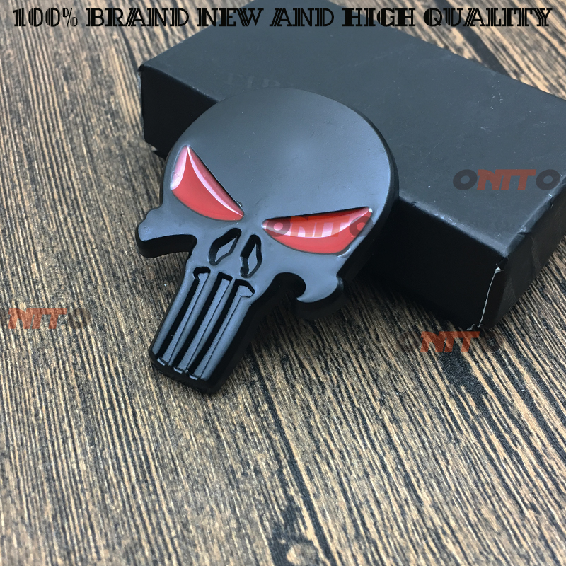 Car styling Metal Body Emblem Car Motorcycle 3D sticker Auto THE Punisher skull Skeleton Rear Badge Stickers Decals black Мотоцикл