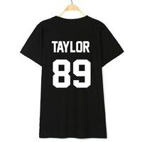 Swift T Shirt TAYLOR 89 Print on Back Side T Shirt Women T Shirt Casual Cotton Funny Shirt Top Tee