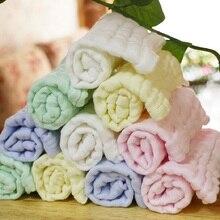 Applot cor sólida 10 pc/lote o macio lavado organza lenço toalha recém nascido crianças rosto toalha de algodão musselina squaretowel
