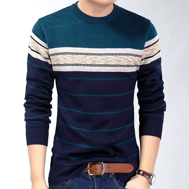 New fashion casual social fitness bodybuilding striped T-Shirts 5