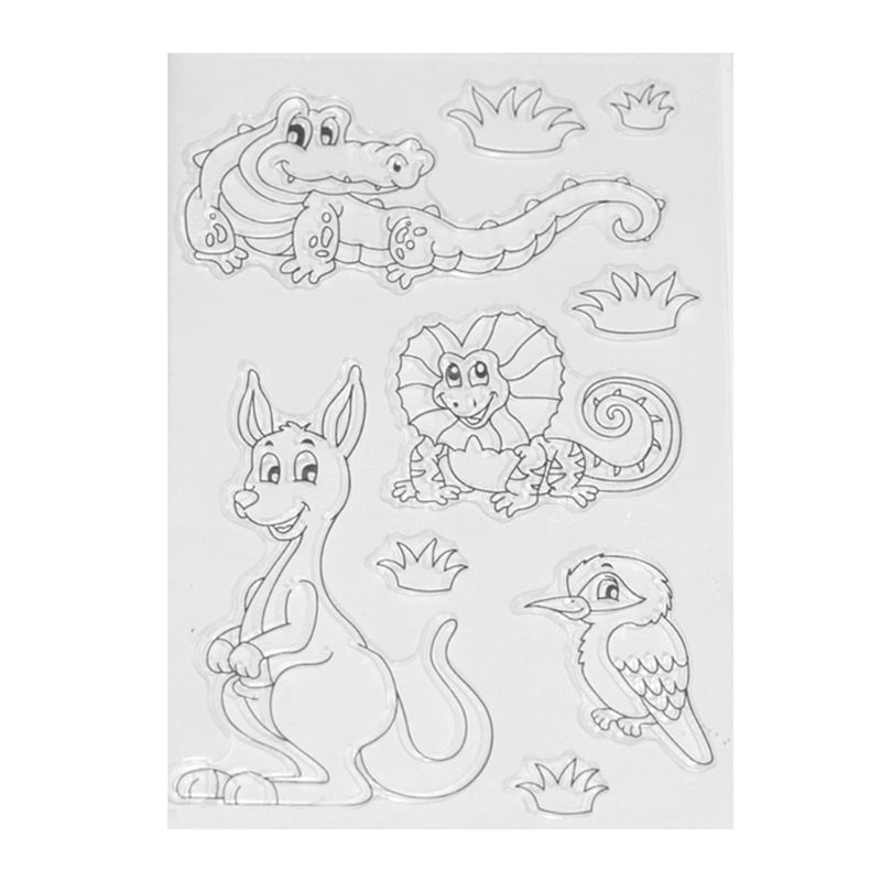DIY Crocodile rabbit Pattern Transparent Clear Seal Scrapbooking Photo Album Card Decorative Rubber Stamp Sheets