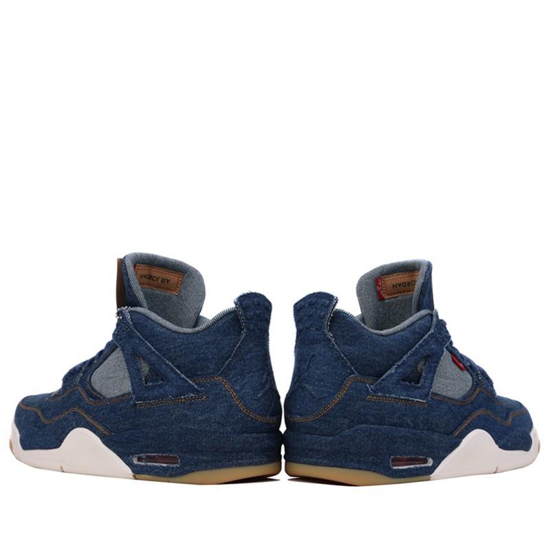 Original Nike Air Jordan 4 AJ4 Mens Denim Basketball Shoes for Spring 2018 NIKE Sneakers for Men AO2571-401