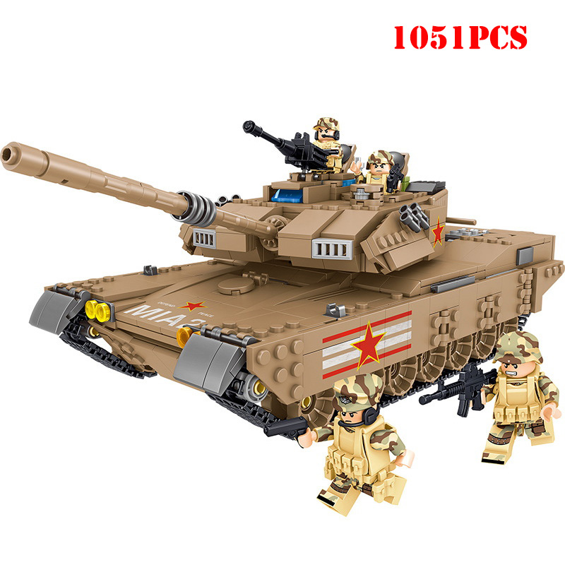 Military M1MA Tank Vehicle Building Blocks Compatible Legoing Technic WW2 Army Soldier Figures Weapon Bricks Toys For Child GiftMilitary M1MA Tank Vehicle Building Blocks Compatible Legoing Technic WW2 Army Soldier Figures Weapon Bricks Toys For Child Gift