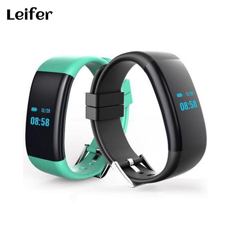Leifer DF30 Smart Wristband band Bracelet Bluetooth Heart Rate Monitor Blood Pressure Monitor Wristband IP68 Waterproof