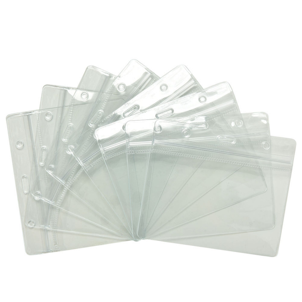 20 pcs clear credit card sleeves protectors soft plastic shielded waterproof id card band cards holders cover office accessories - Plastic Sleeves For Cards