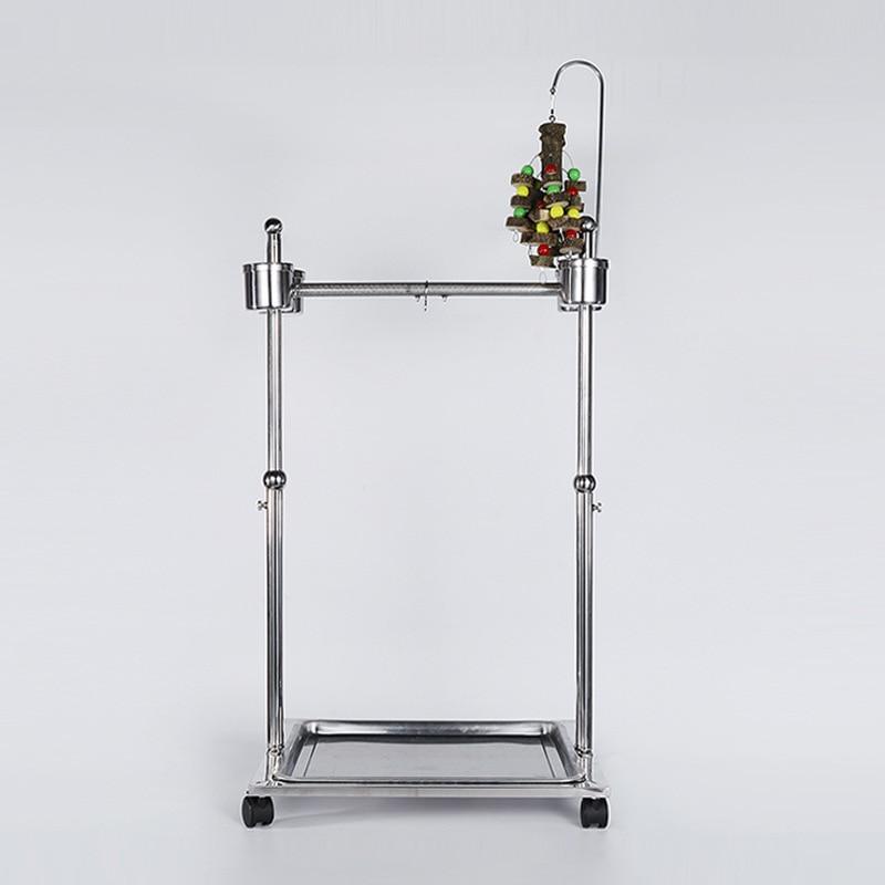 Portable DIY Stainless Steel Parrot Stands Bird Hanging Playing Platform Pet Bird Accessories CW078