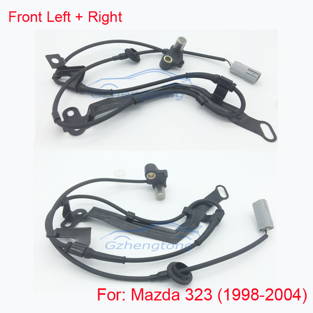2pcs/set Front Right and Left ABS Wheel Speed Sensor  For Mazda 323 F VI (BJ) B25D4370XG B25D-43-73XG
