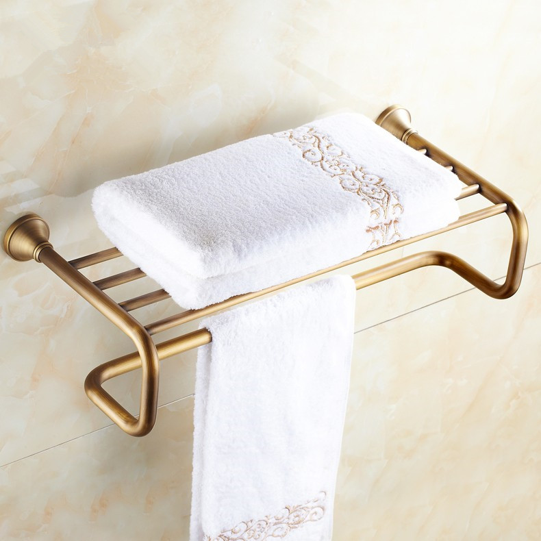 New arrival Fashion Fixed Antique Brass Towel Rack, Bathroom Luxury Accessories Towel Bars Shelf ,Bronze Towel Holder/toalheiros new arrival bathroom towel rack luxury antique copper towel bars contemporary stainless steel bathroom accessories 60cm k301