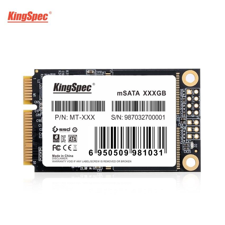 Hot KingSpec MSATA SSD Solid State Disk SATA III 64gb 120gb 128gb 240gb 256gb 500gb 512gb 1tb Ssd Hard Drive For Laptop Netbook