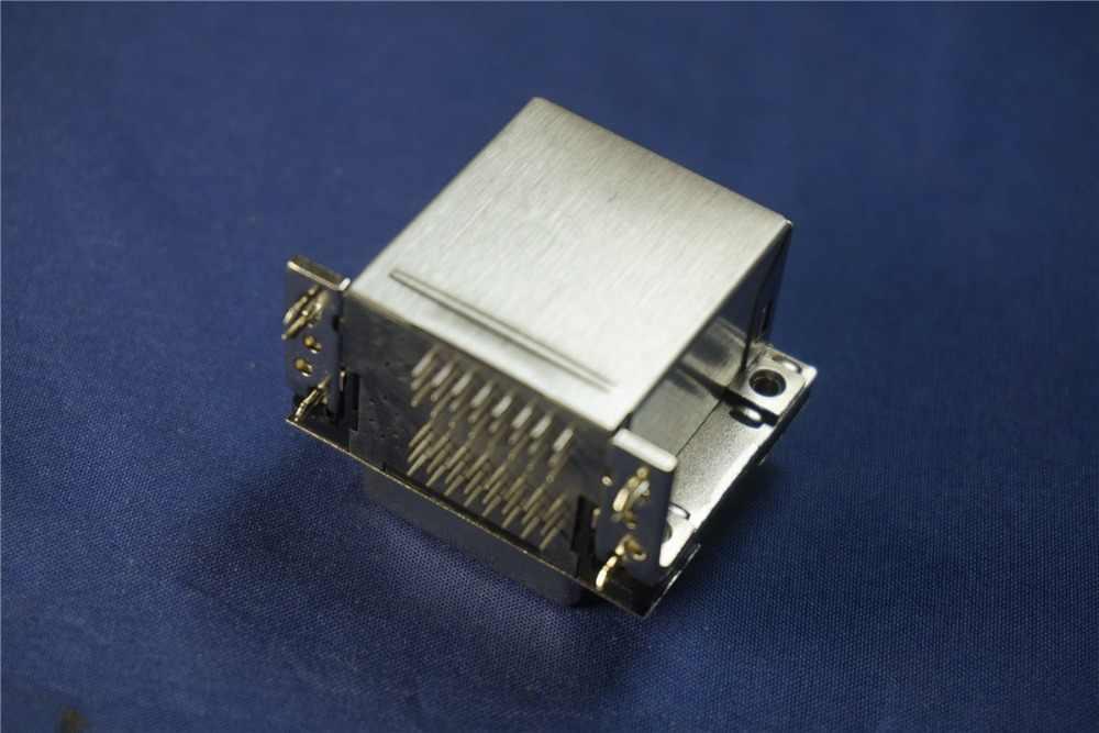 100 Pcs Ganda Port 24 Jarum DVI-D Ganda Tautan Receptacle Konektor 24 Posisi Melalui Lubang KANAN SUDUT PCB 2 DVI konektor Digital