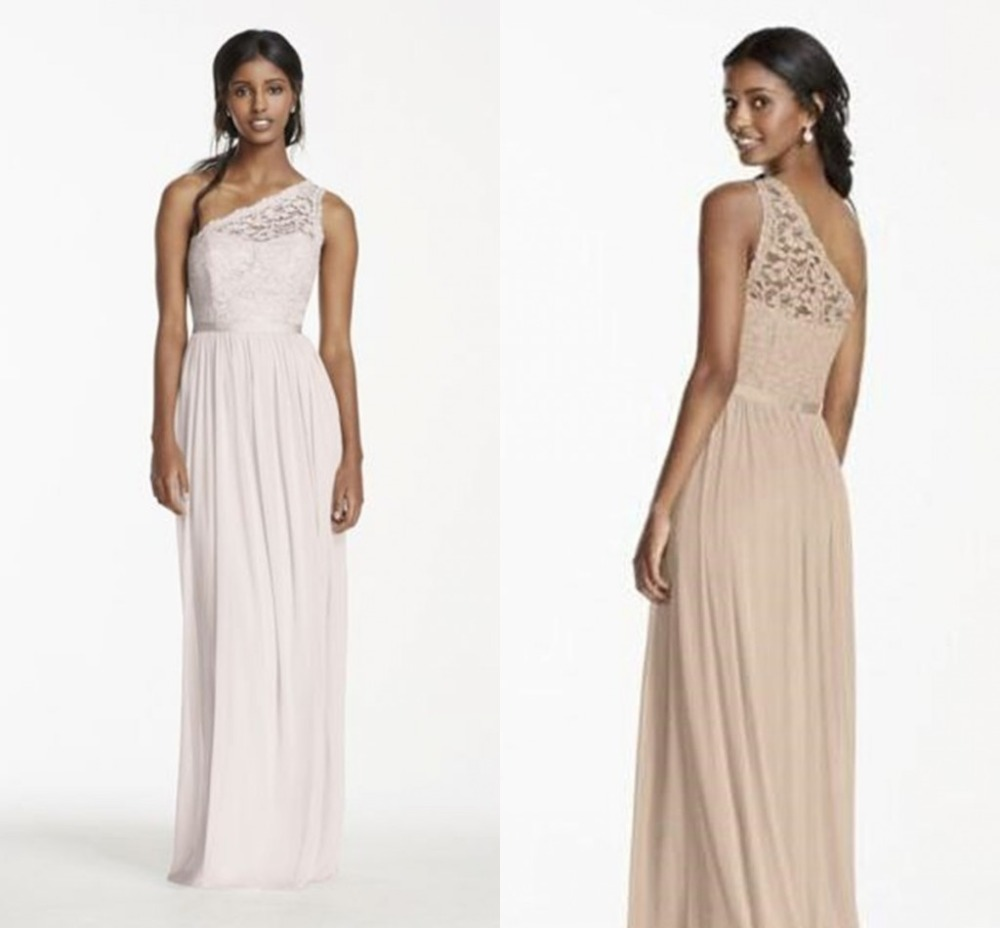 Online get cheap beach bridesmaid dresses for weddings aliexpress beach skin color bridesmaid dresses 2017 one shoulder long lace chiffon cheap sale maid of honor ombrellifo Gallery