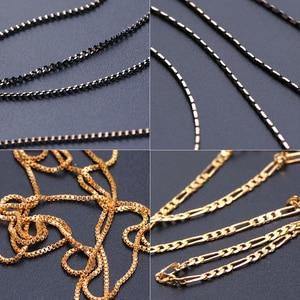 Image 2 - 1m Nail Art Alloy Metal Chains Gold 3D Charms Decoration Studs Spangles Punk Snake Bone Strass Manicure Jewelry Accessory JI780