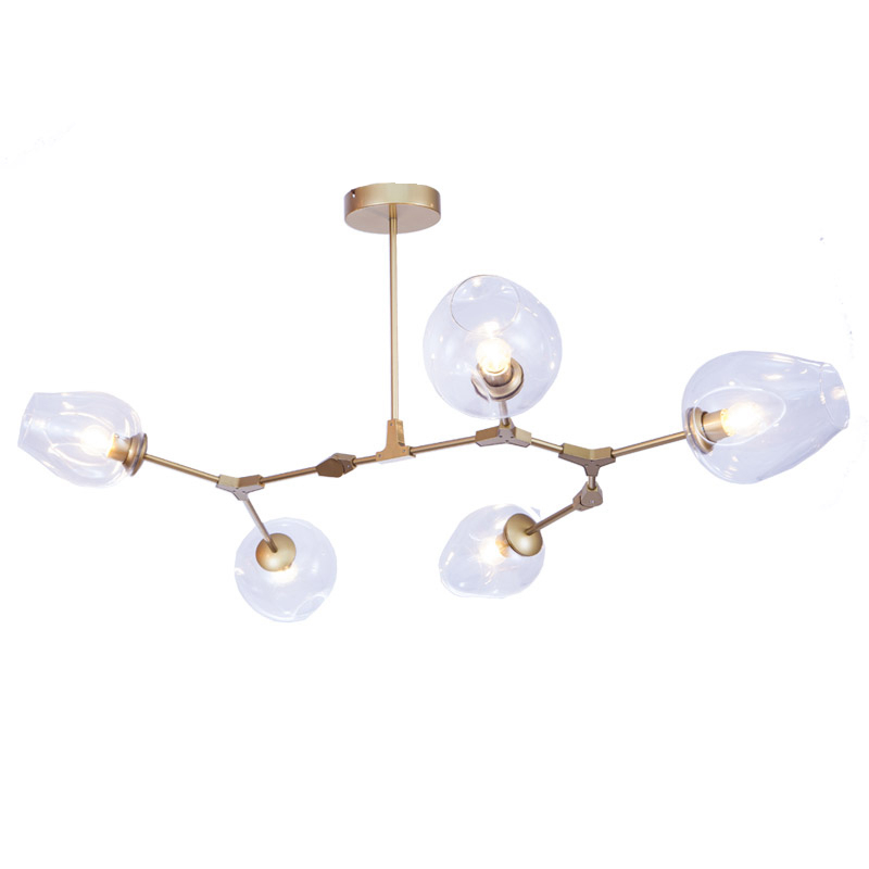 Bjornled Post modern Chandelier Light 5 head Nordic Art Decoration DNA 3W E27 led lamp c ...