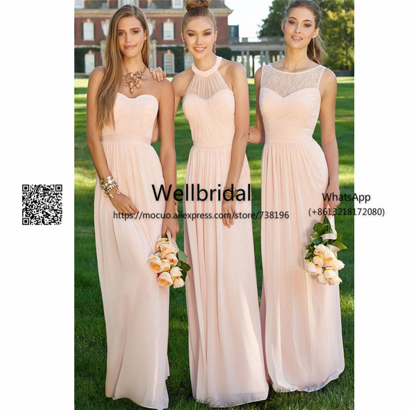 Promotion 2017 Wedding Party   Dress   with ABCDE Design Off shoulder   Bridesmaid     Dress   Pleated Long   Bridesmaid     Dress   for women
