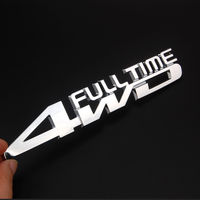 Chrome Full Time 4WD Trunk Truck Emblem Fender Badge Sticker Decal For Pilot Car