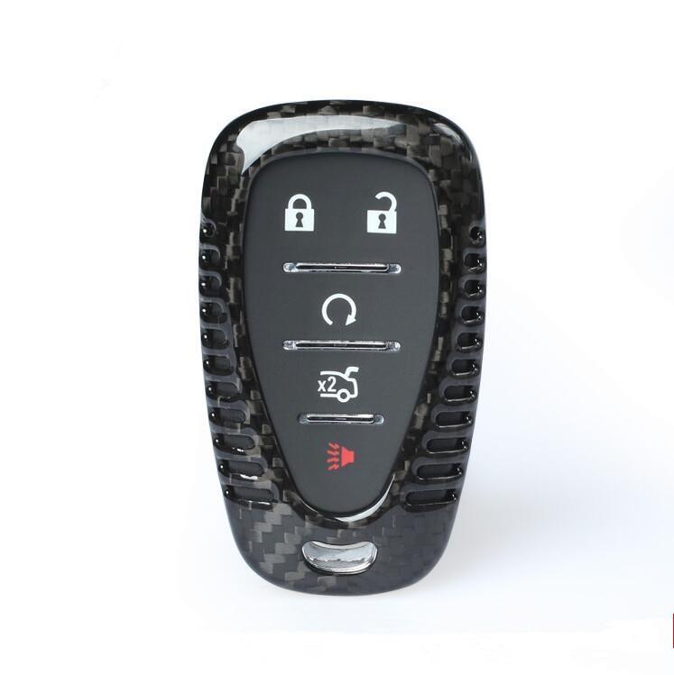 Подлинная 100% углеродного волокна автомобиля авто Дистанционный ключ Чехол держатель FOB оболочки кожи для 2016 2017 новый Шевроле Камаро