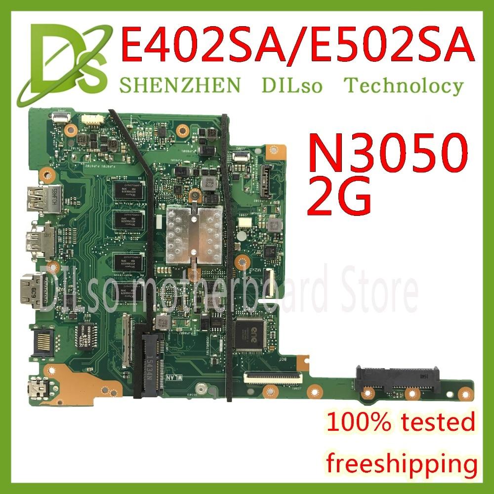 цена на KEFU E402SA motherboard For ASUS E402SA E502SA laptop motherboard N3050 CPU 2G RAM Original Integrated Test motherboard