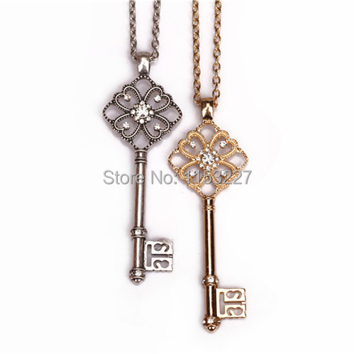New luxury style hollow out key pendant necklace meaning in pendant new luxury style hollow out key pendant necklace meaning aloadofball Choice Image