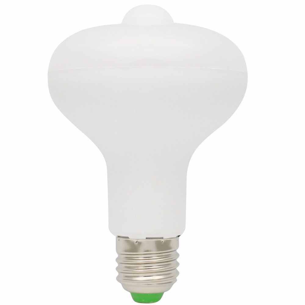 Lumiparty 9ワット電球付きled赤外線モーション検出センサーライトpir屋内/屋外照明用ポーチ廊下パティオ家