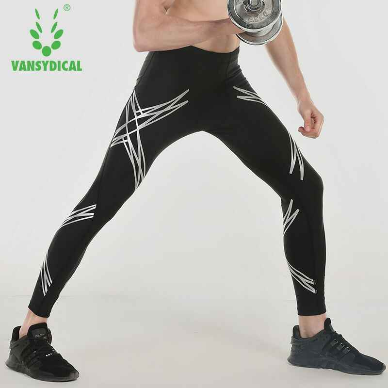 62baba2bdabbcf Vansydical Men Compression Running Pants Fitness Sports Leggings  Compression Tights Running Tights Workout Yoga Men Gym