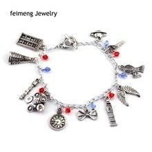 Factory Direct Sale Doctor Who Charm Bracelet Bohemia Style Charming Bracelet Free Shipping Movie Jewelry