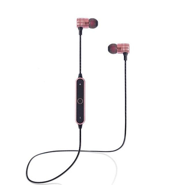 46326f6da74a5f Hongsund BT21 Magnetico Auricolare Bluetooth 4.1 Stereo Wireless Sport Cuffia  con Microfono Vivavoce per iPhone Smartphone
