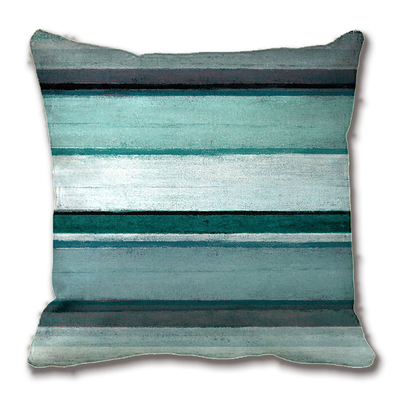Teal And Grey Abstract Art Pillow Decorative Cushion Cover