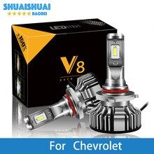 2 предмета Автомобильные светодиодные фары для Chevrolet Cruze Orlando Captiva Epica Lacetti H7 светодиодный H4 светодиодный H1 H7 H3 9005 6500 K 8000LM со светодиодными кристаллами для лампочки