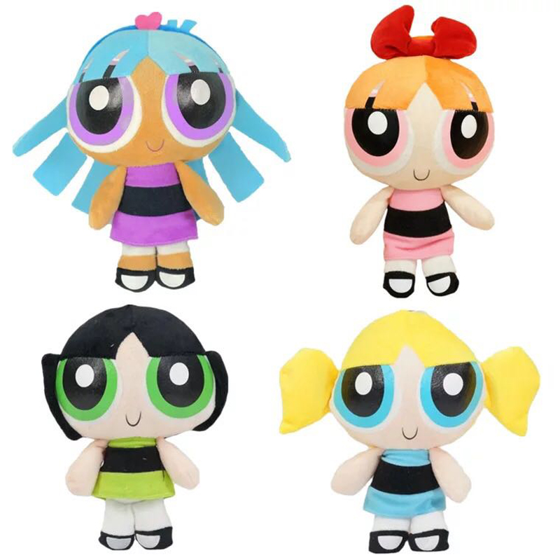 20cm The Powerpuff Girls Plush Doll Toy Bubbles Blossom Buttercup Blisstina Plush Stuffed Toys For Children Kids Girls Gift
