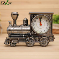 Vintage Train Engine Style Creative Locomotive Shaped Standing Mini Aarm Clock Wonderful Toy Unique Design KT1060